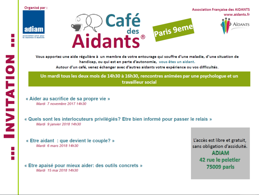 Programme cafe des aidants