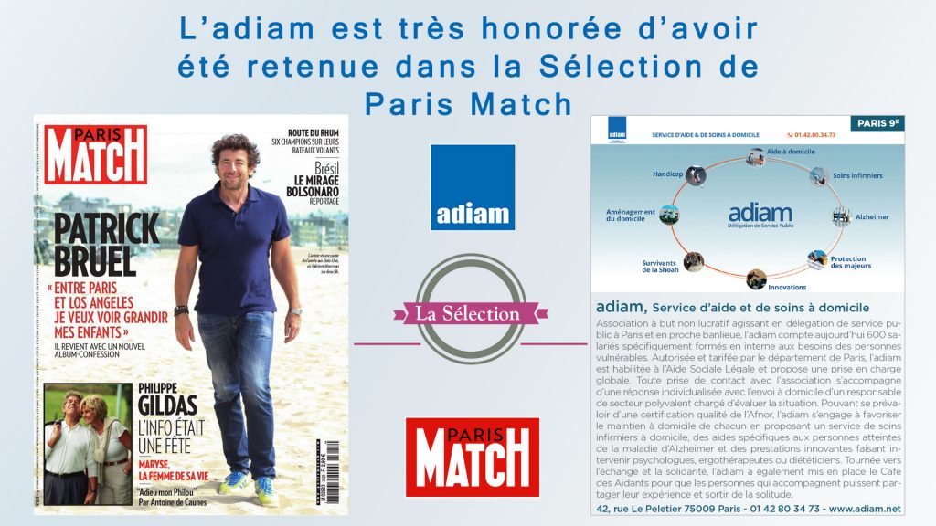 Adiam Publciation Paris Match