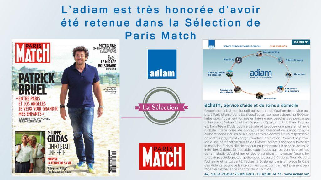 Adiam Publciation Paris Match
