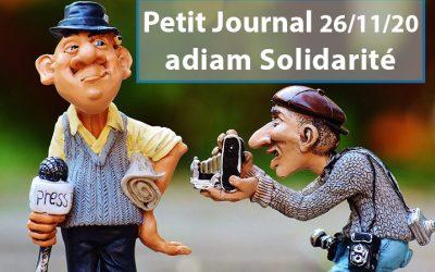 Petit Journal du Jeudi 26 novembre 2020